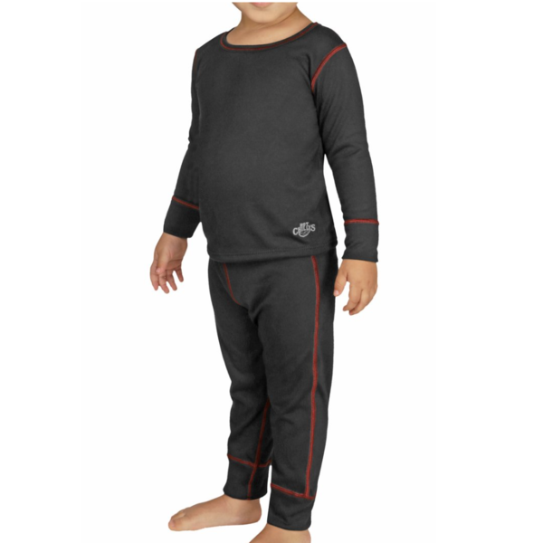 TODDLER MIDWEIGHT TODDLER BASELAYER SET - BLACK