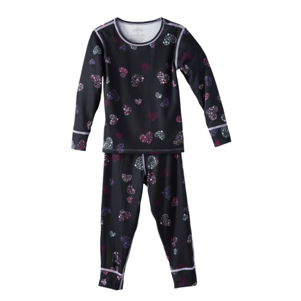 TODDLER ORIGINAL II PRINT BASELAYER SET - HEART FLURRIES