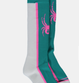 SPYDER GIRLS SWEEP SKI SOCKS - SCUBA
