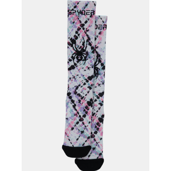 GIRLS PEAK SKI SOCKS - IMPRESS PRINT
