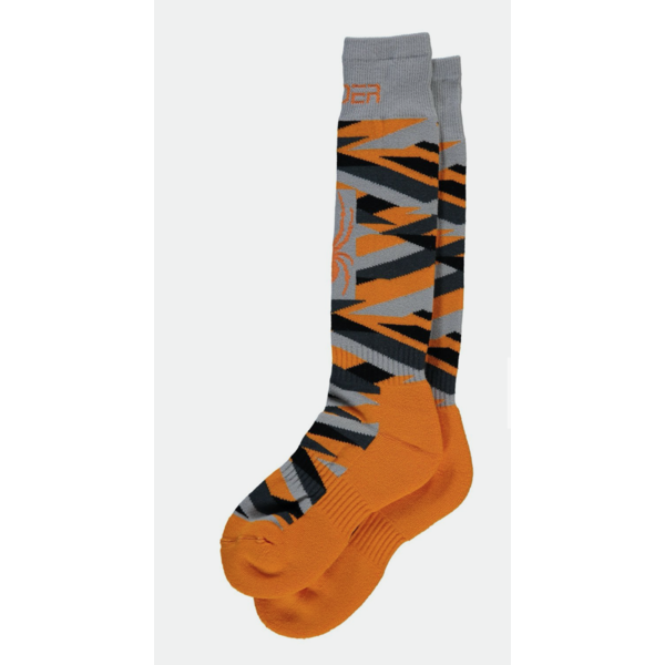 BOYS PEAK SKI SOCKS - BRYTE ORANGE