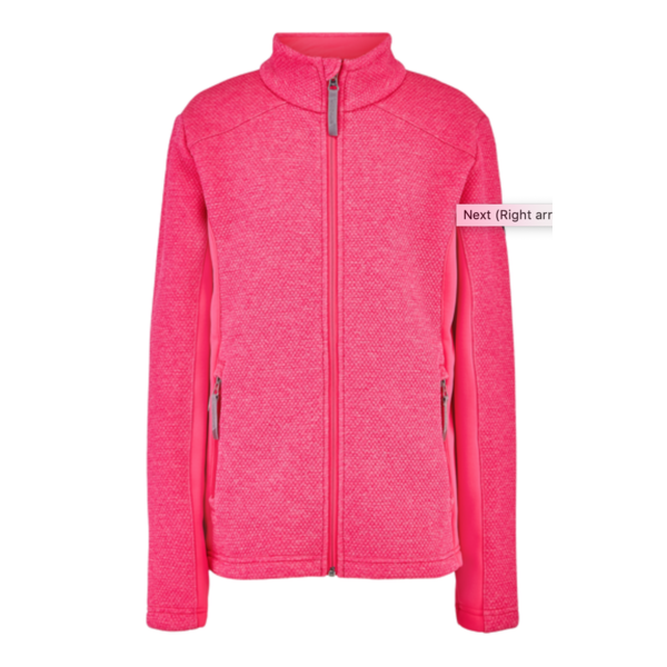 JUNIOR GIRLS ENCORE FLEECE JACKET - BRYTE BUBBLEGUM - SIZE XLARGE/18 ONLY