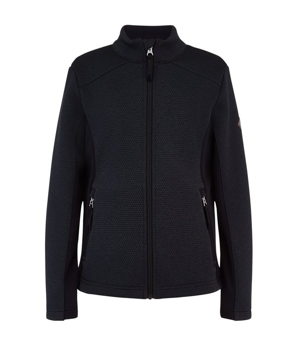 SPYDER JUNIOR GIRLS ENCORE FLEECE JACKET - BLACK