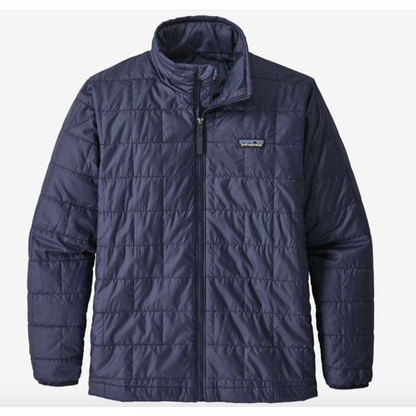 JUNIOR BOYS NANO PUFF JACKET - CLASSIC NAVY