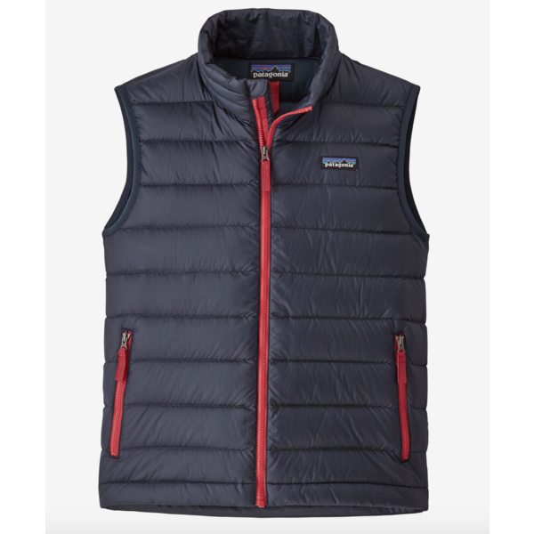 JUNIOR BOYS DOWN SWEATER VEST - NEW NAVY