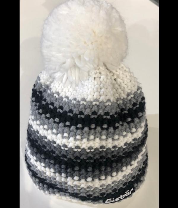 EISBAR PASSION POMPOM HAT - WHITE - ADULT (8Y+)