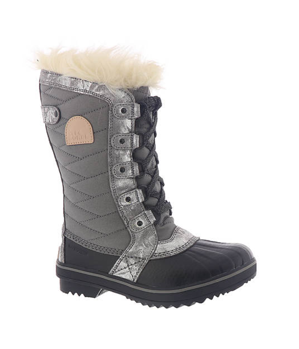 SOREL YOUTH TOFINO BOOT - SILVER - SIZE 4 ONLY
