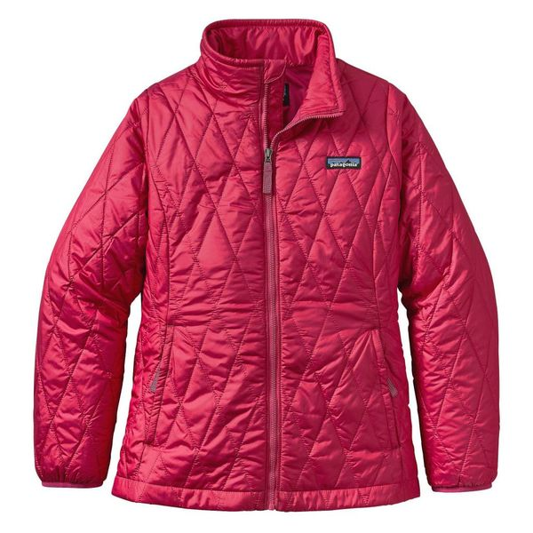 GIRLS NANO PUFF JACKET - CRAFT PINK - SIZE MEDIUM ONLY