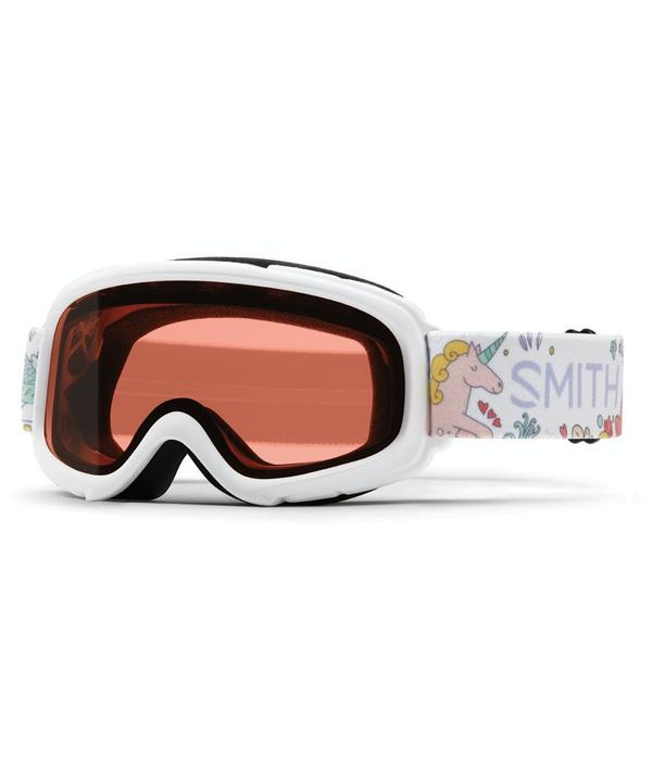 SMITH GAMBLER GOGGLES - WHITE FAIRY WITH RC36 LENS - SIZE YOUTH SMALL/MEDIUM