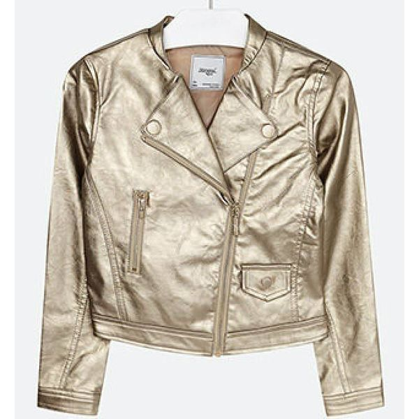 JUNIOR GIRLS LEATHERETTE JACKET CHAMPAGNE - SIZE 16 ONLY