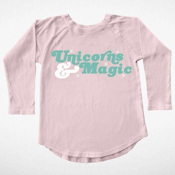 UNICORNS AND MAGIC LONG SLEEVE TEE