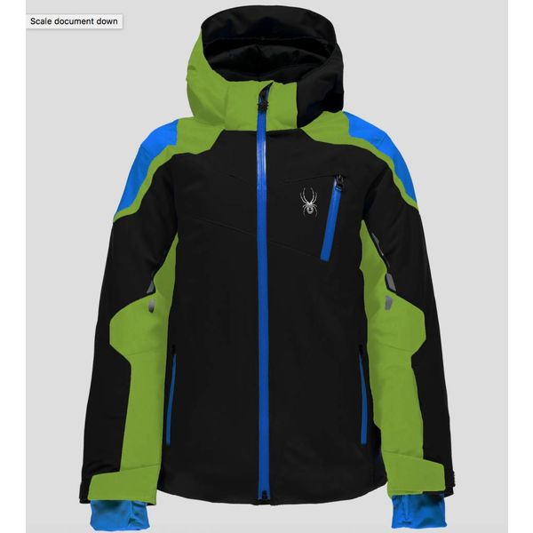 BOY'S SPEED JACKET BLACK/FRESH/FRENCH BLUE