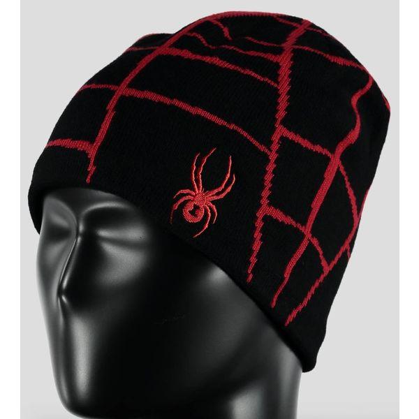 BOY'S WEB HAT BLACK/RED