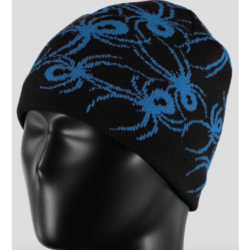 SPYDER MINI BUGS HAT BLACK/FRENCH BLUE