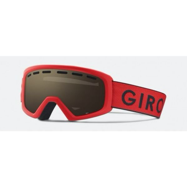 REV GOGGLES RED/BLACK ZOOM/AMBER LENSE - YOUTH MEDIUM
