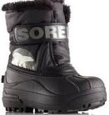 SOREL CHILDRENS SNOW COMMANDER BOOT - BLACK - SIZE 4C ONLY