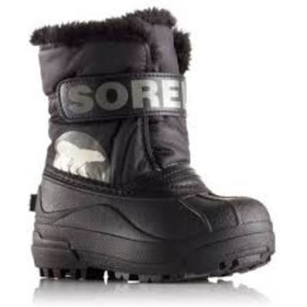 CHILDRENS SNOW COMMANDER BOOT - BLACK - SIZE 4C ONLY