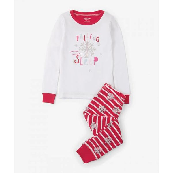 CANDY CANE APPLIQUE PJ SET - SIZE 2 ONLY