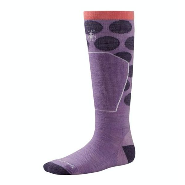 GIRL'S RACER SOCK- LILAC SMALL (9-11.5)