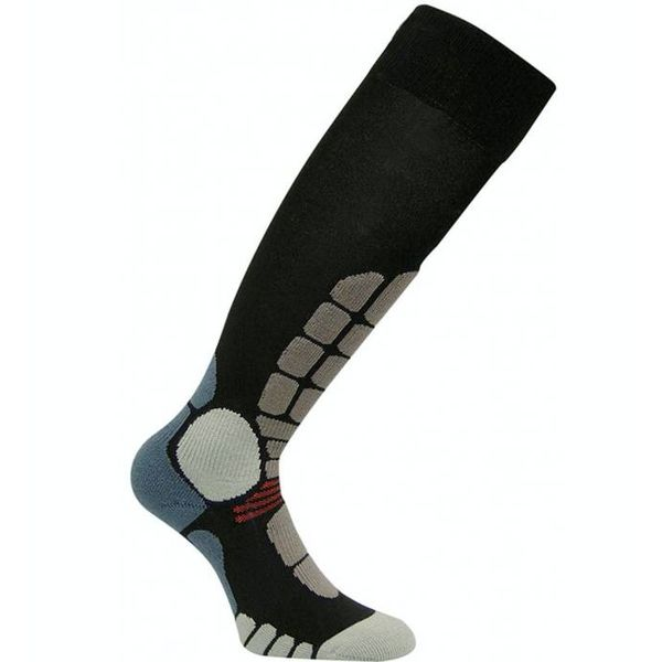 DIGITS SILVER SKI SOCKS - BLACK