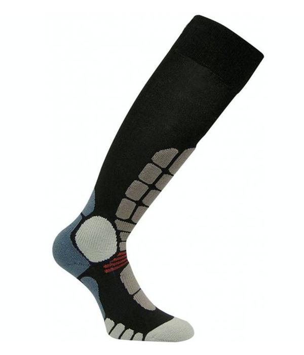 EUROSOCKS DIGITS SILVER SKI SOCKS - BLACK - SIZE XLARGE ONLY