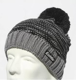 EISBAR JOSCHI POMPOM HAT - GREY/BLACK - ADULT (8Y+)