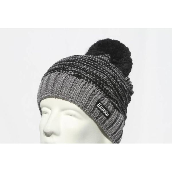 JOSCHI POMPOM HAT - GREY/BLACK - ADULT (8Y+)