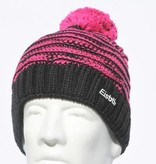 EISBAR WINTER HATS JOSCHI POMPOM HAT - BLACK/PINK - ADULT (8Y+)
