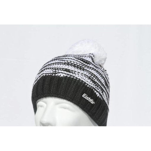 EISBAR JOSCHI POMPOM HAT - BLACK/WHITE - ADULT (8Y+)