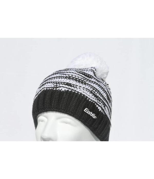 EISBAR WINTER HATS JOSCHI POMPOM HAT - BLACK/WHITE - ADULT (8Y+)