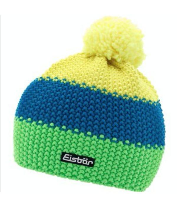 EISBAR STAR NEON POMPON- YELLOW/BLUE/NEON GREEN -  ADULT (8Y+)
