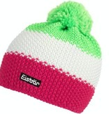 EISBAR WINTER HATS STAR NEON POMPON- NEON GREEN/WHITE/PINK - ADULT (8Y+)