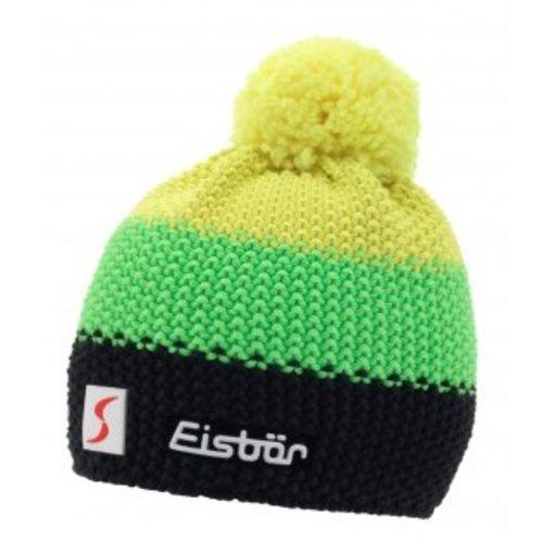 EISBAR WINTER HATS KID STAR NEON POM- YELLOW/NEON GREEN/BLACK - KIDS (2-7Y)
