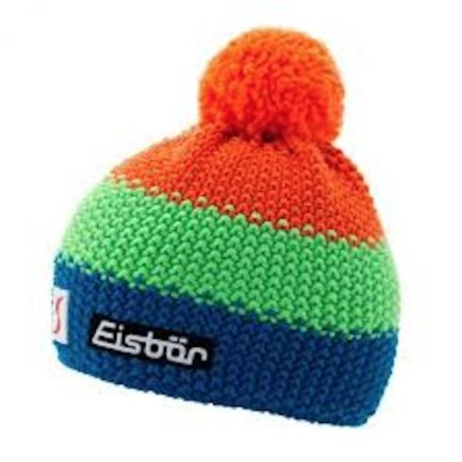 EISBAR STAR NEON POMPON- ORANGE/NEON GREEN/BLUE - ADULT (8Y+)