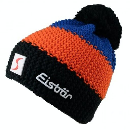 EISBAR KID STAR POMPON-BLUE/ORANGE/BLACK - KIDS (2-7Y)