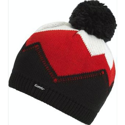 EISBAR WINTER HATS STARSKY POMPOM HAT - BLACK - ADULT (8Y+)