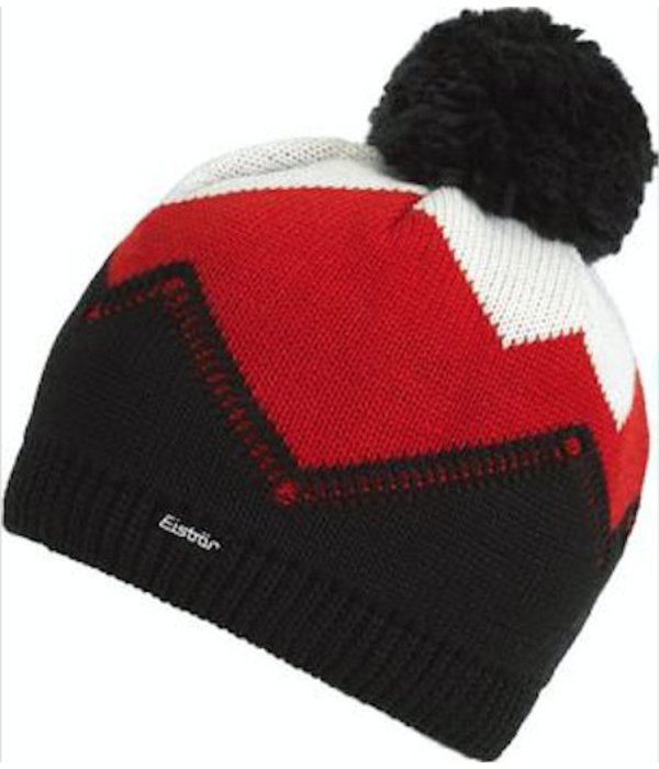 EISBAR WINTER HATS STARSKY POMPOM HAT - BLACK - ADULT (8Y+)