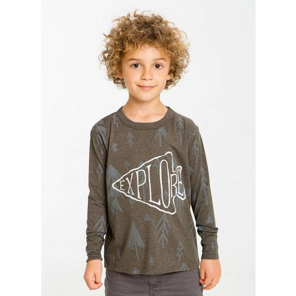 BOYS EXPLORE WOODLANDS L/S TEE - SIZE 10 ONLY