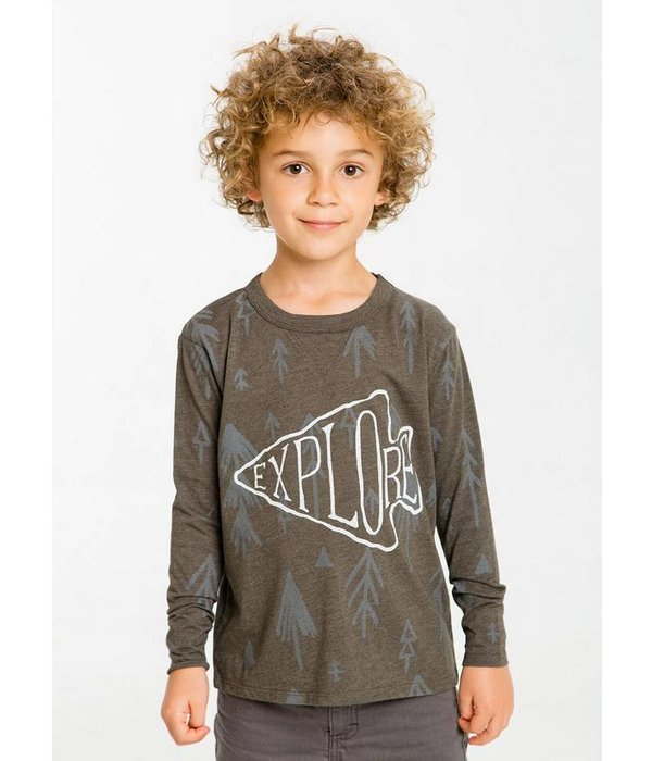 CHASER BOYS EXPLORE WOODLANDS L/S TEE - SIZE 10 ONLY