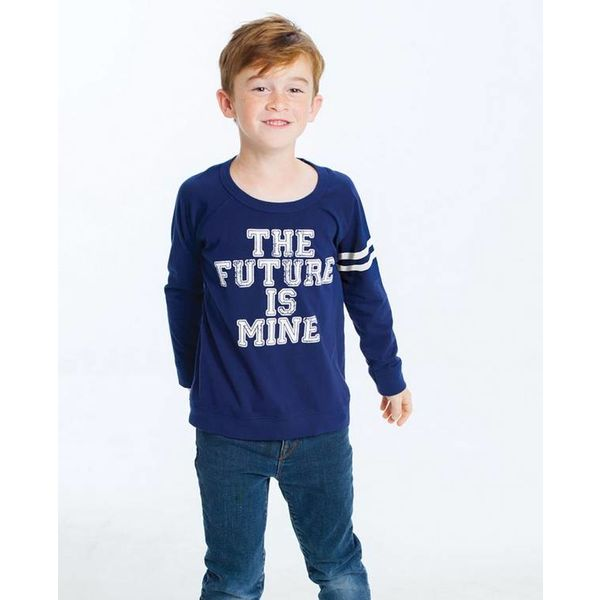 PRESCHOOL BOYS THE FUTURE IS MINE L/S TEE - SIZE 4 ONLY
