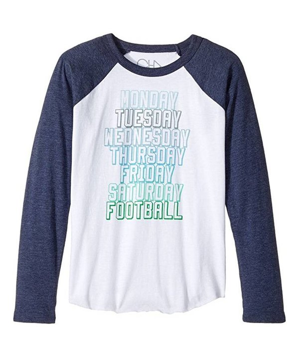 CHASER BOYS SUNDAY FOOTBALL L/S TEE - SIZE 6 ONLY