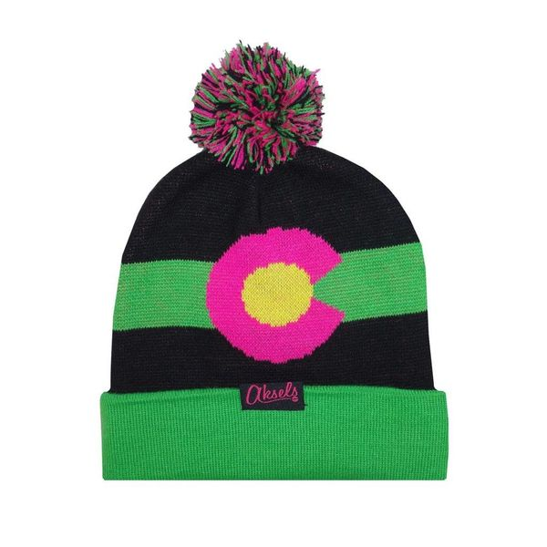 COLORADO MOUNTAIN BEANIE - NEON
