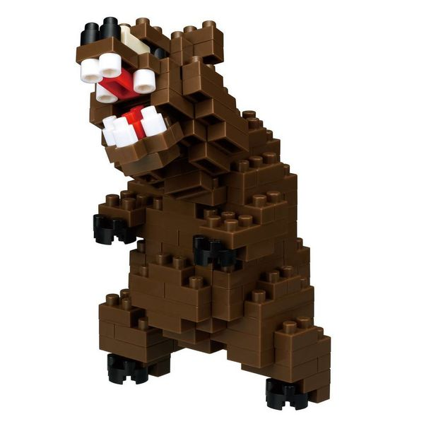 NANOBLOCK - GRIZZLY BEAR - AGES 8+