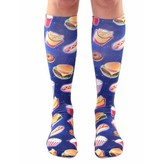 LIVING ROYAL FAST FOOD GALAXY KNEE SOCKS