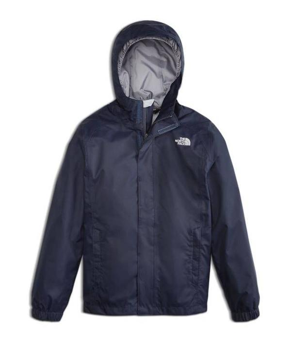 THE NORTH FACE JUNIOR BOYS RESOLVE REFLECTIVE RAIN JACKET - COSMIC BLUE