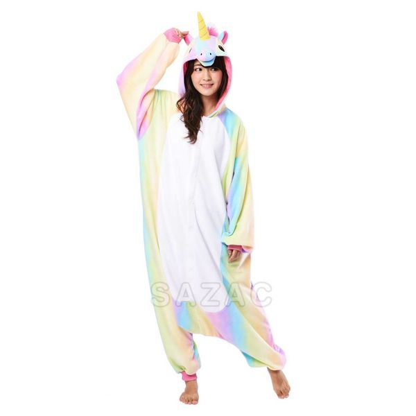 RAINBOW UNICORN ONESIE - ADULT (5FT-6FT)
