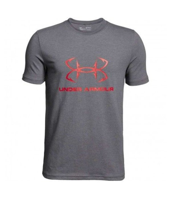 UNDER ARMOUR HOOK LOGO SPORTSTYLE TEE - GREY