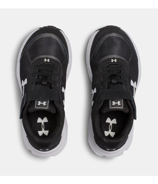 UNDER ARMOUR PRESCHOOL RAVE 2 SNEAKER - BLACK