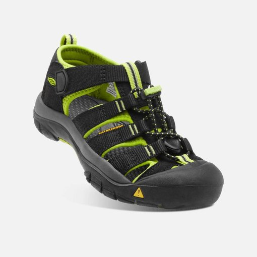 KEEN NEWPORT H2 YOUTH - BLACK/LIME -