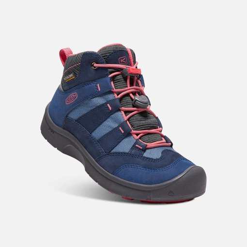 KEEN HIKEPORT WATERPROOF YOUTH - BLUES/CORAL - SIZE 5 ONLY